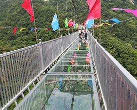 吉林河南玻璃吊桥